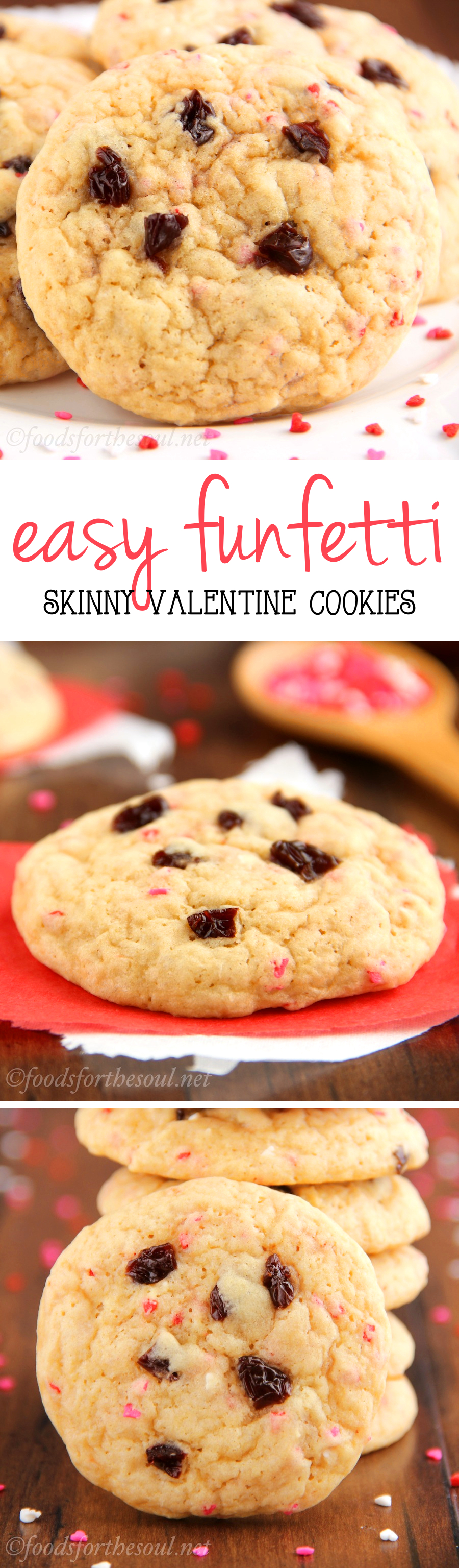 These easy Valentine's Day cookies are unbelievably soft! And they taste SO buttery -- you can't even tell they're skinny!