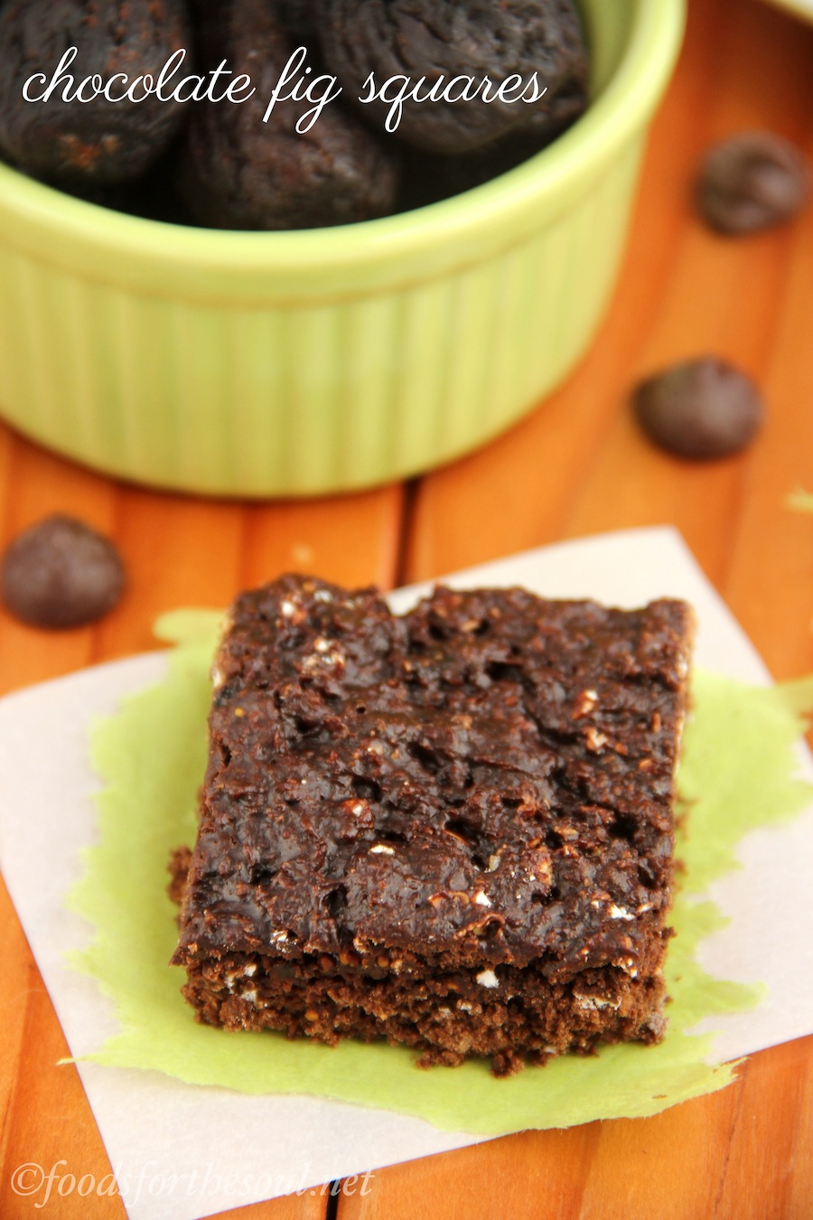 Chocolate fig squares: Decadent flavor hides 4 grams of protein