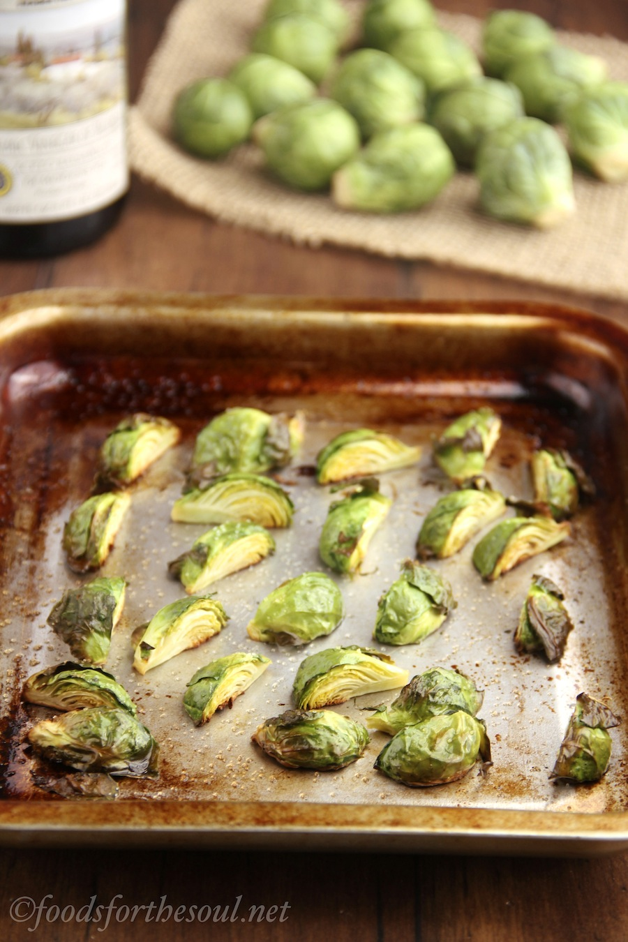 how to make healthy crispy roasted brussels sprouts in the oven