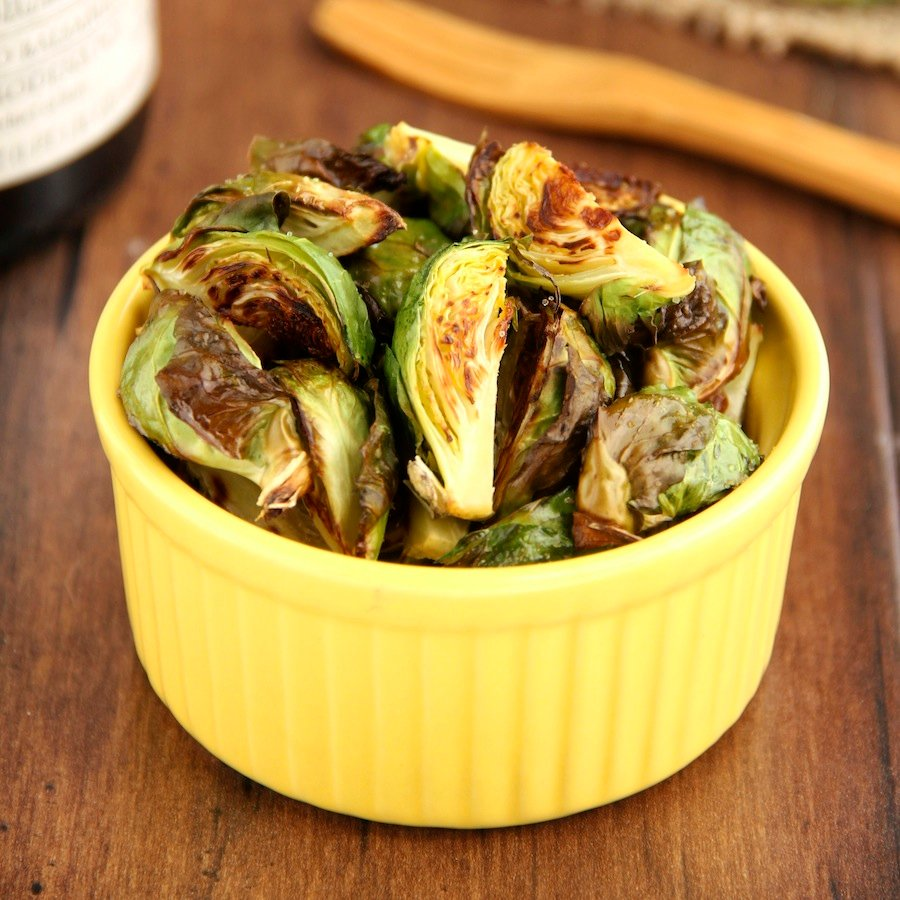 Easy Skinny Roasted Brussels Sprouts