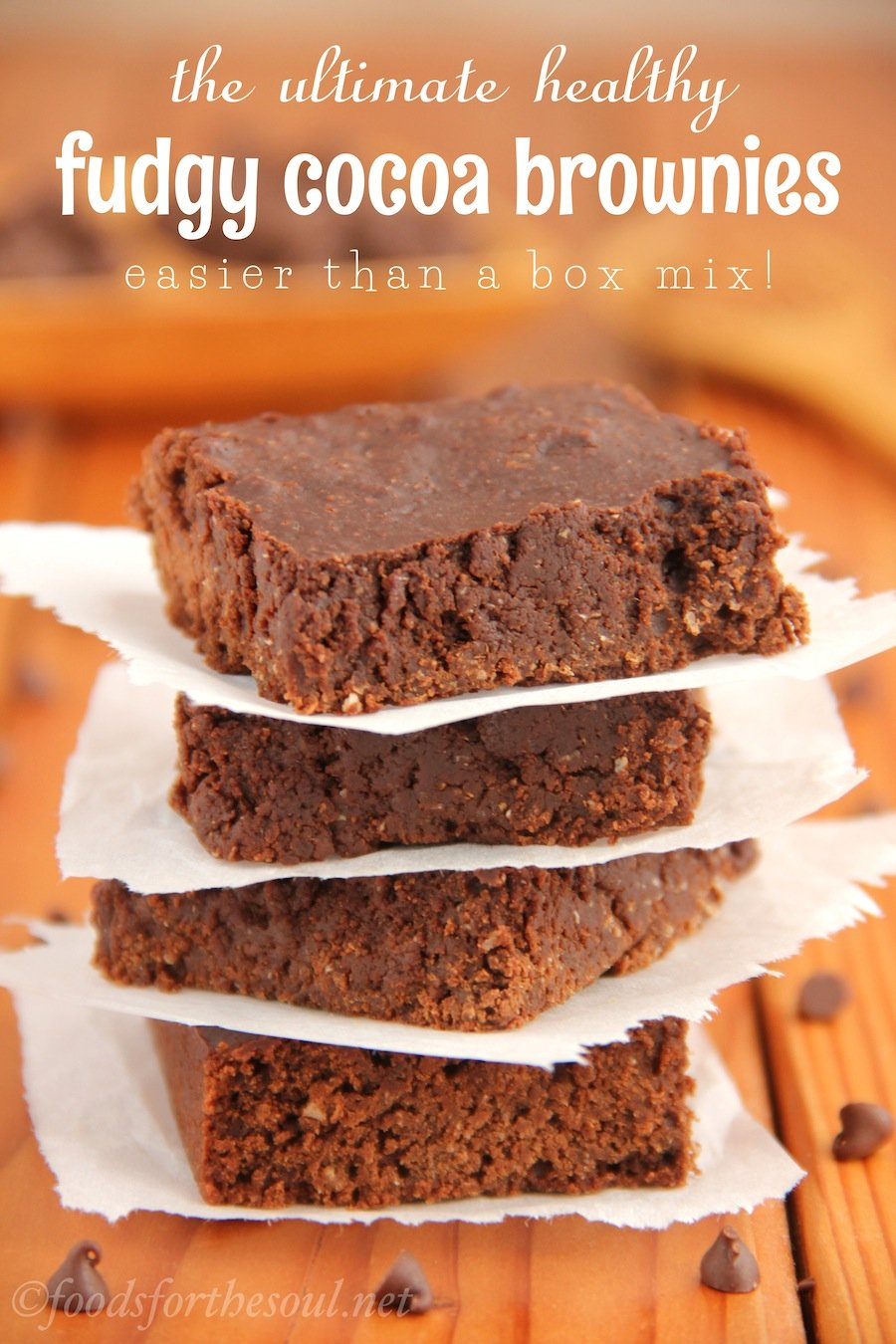 These fudgy brownies are SO rich & decadent! No one would ever guess they're secretly skinny & low fat. You'll never use another recipe again!