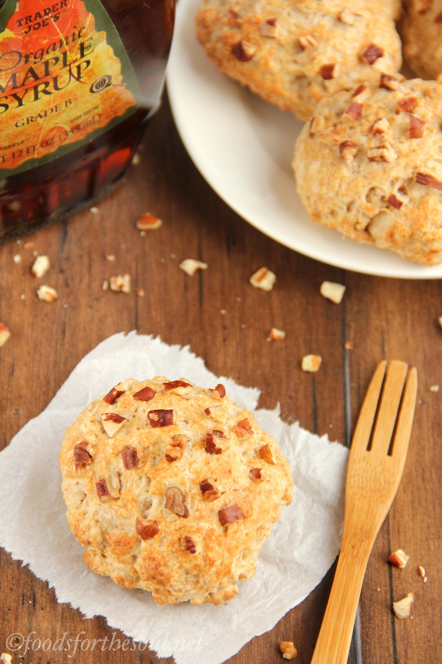 Maple Pecan Scones -- an easy recipe for healthier breakfast pastries!
