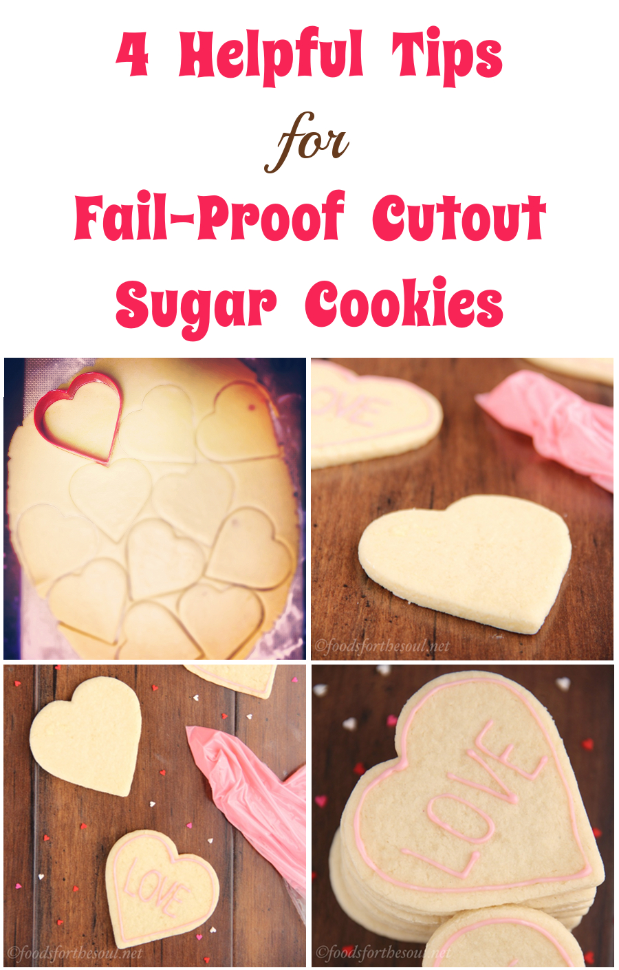 4 Helpful Tips for Fail-Proof Cutout Sugar Cookies. You'll make perfect cookies every time!