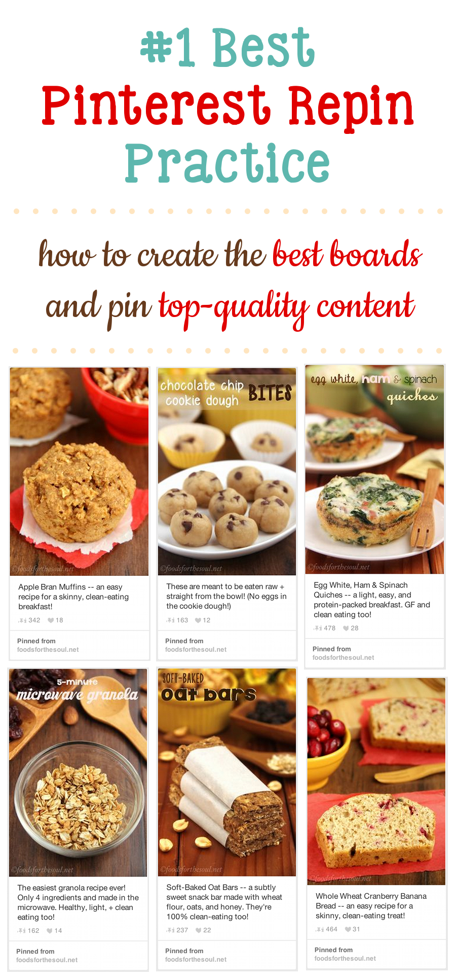 #1 Best Pinterest Repin Practice -- how to create the best boards & pin top-quality content. Must read!