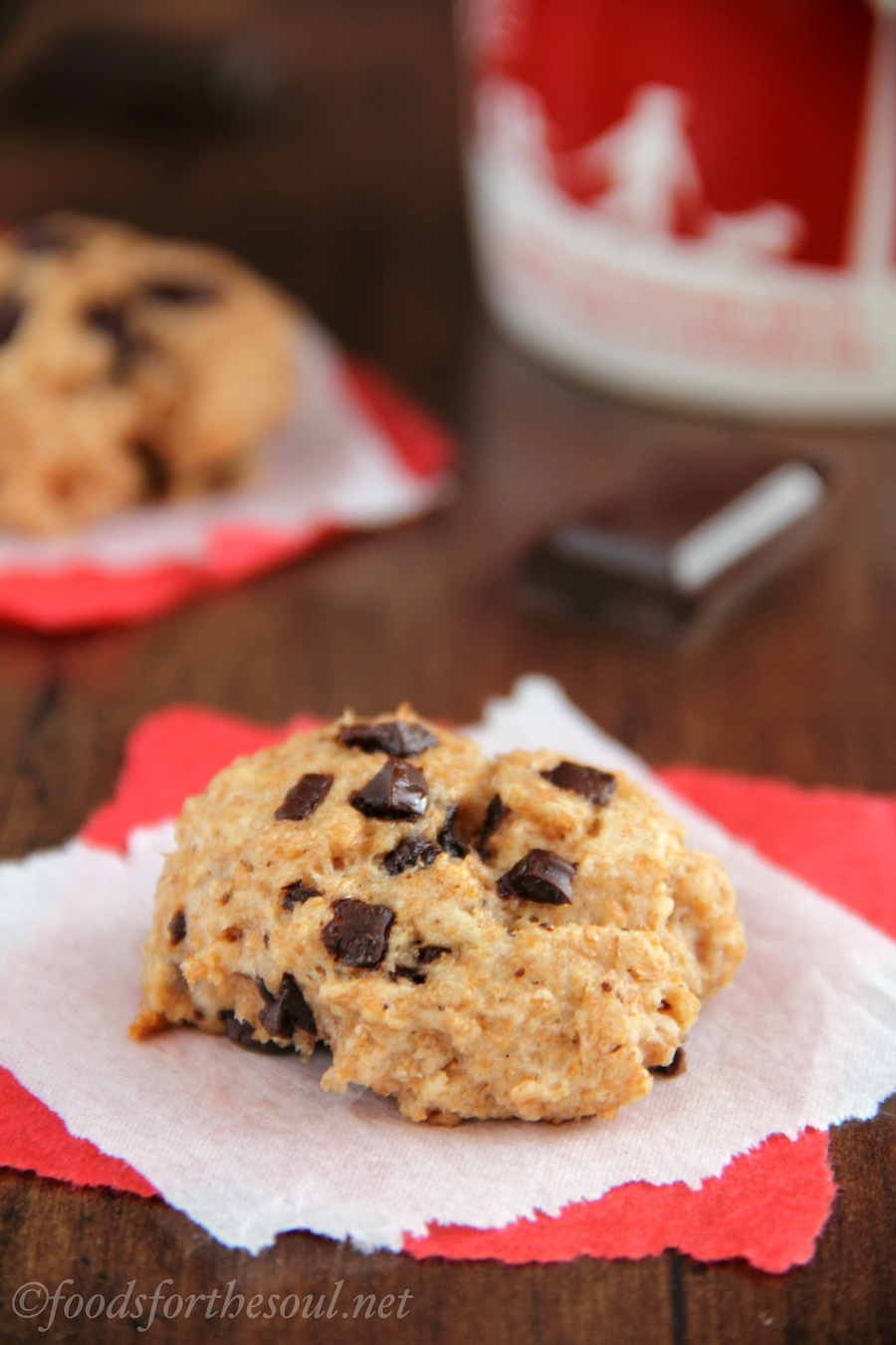 A irresistible combination of scones & cookies! Moist & tender with rich dark chocolate. The best healthy clean-eating treat!