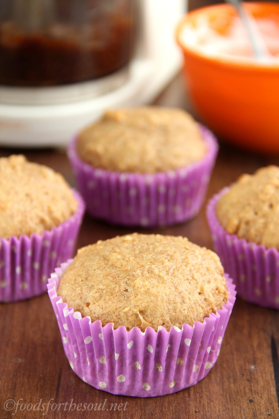 An easy, no-mixer required recipe for Fig Newton Cupcakes! They're surprisingly healthy & taste exactly like the cookies!
