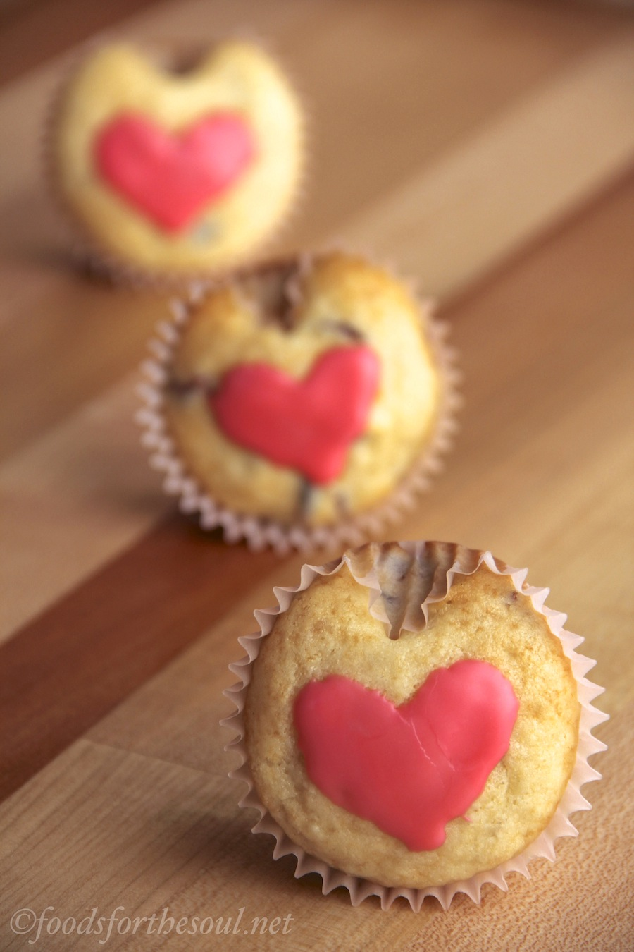 Heart-Shaped Cranberry Muffins -- perfect for Valentine's Day & no special pans needed!