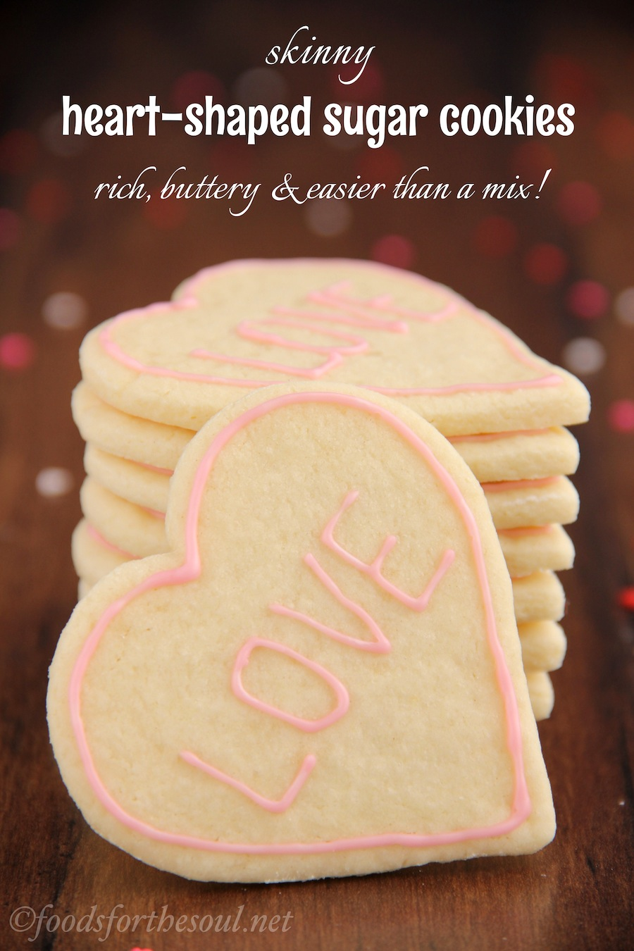 These skinny sugar cookies don't taste healthy at all! They're SO buttery & super easy to make. You'll never need another recipe again!