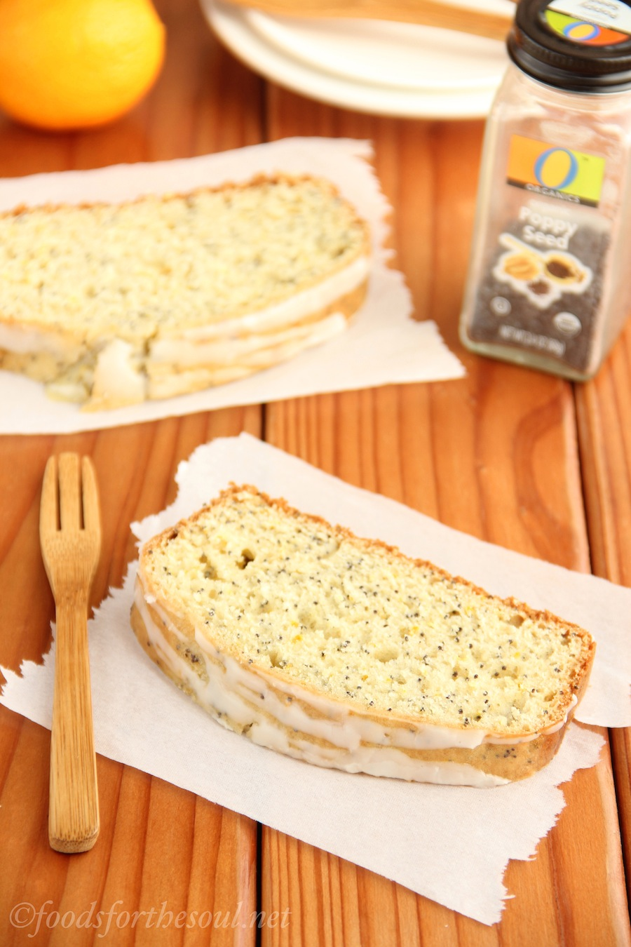 A really easy recipe for Lemon Poppy Seed Loaf Cake. It's so full of flavor, you can't even tell it's lightened up!