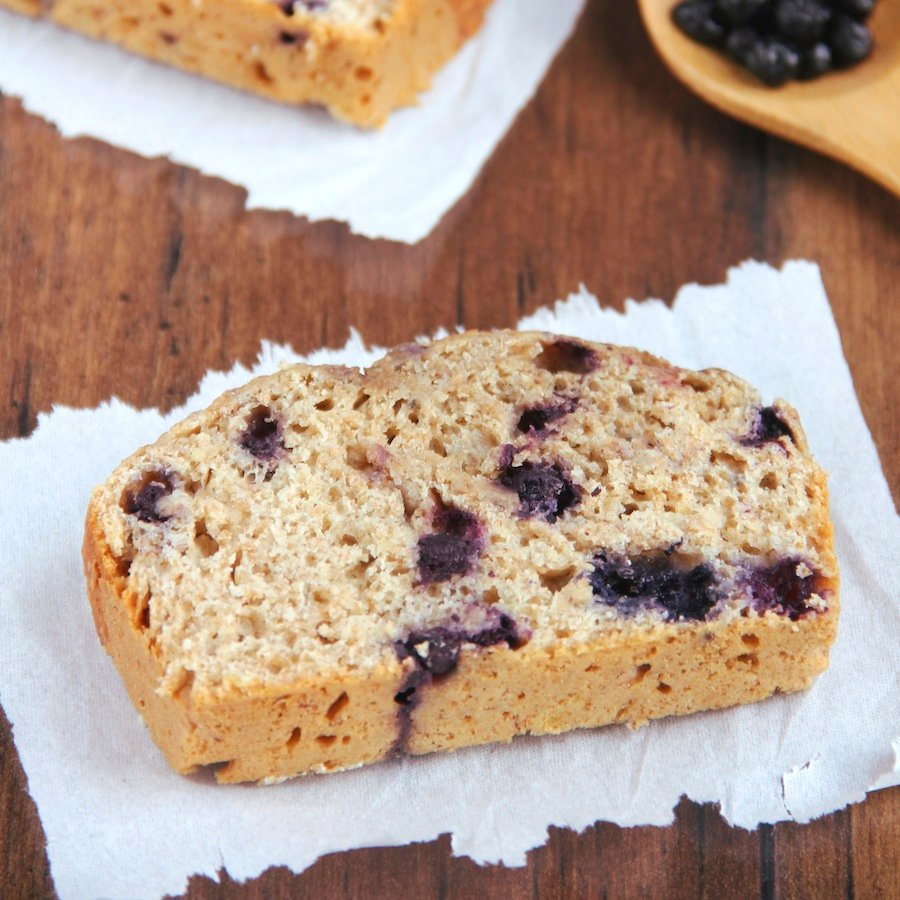 Whole Wheat Blueberry Banana Bread