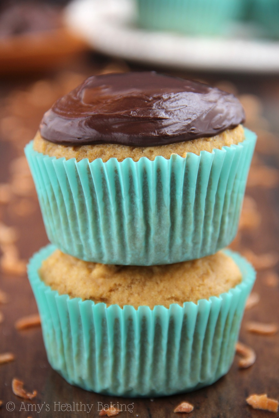 Almond Joy Cupcakes - they taste just like the candy bar! Made with NO butter, refined flour or refined sugar. You NEED this frosting recipe!