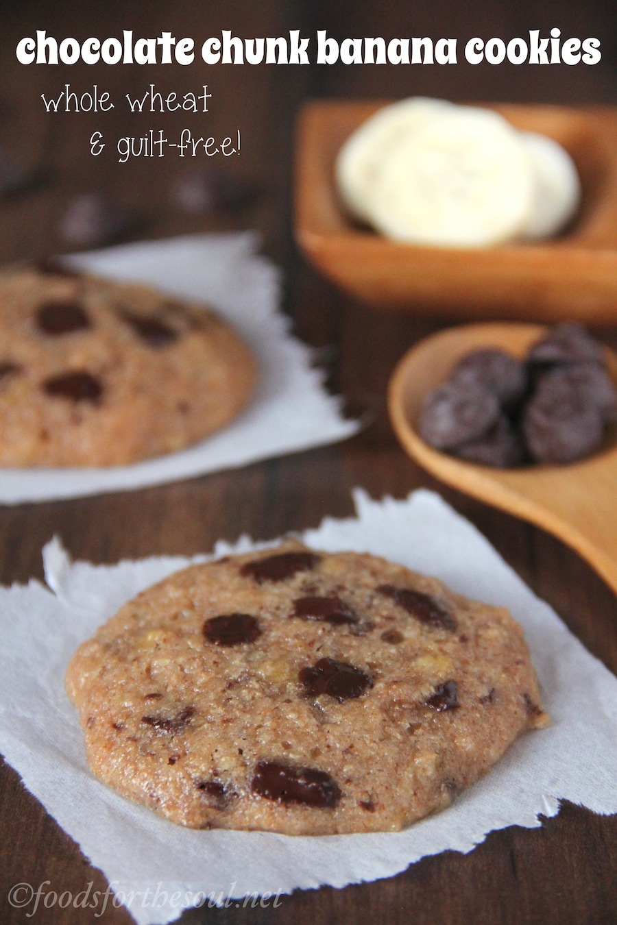 Chocolate Chunk Banana Cookies