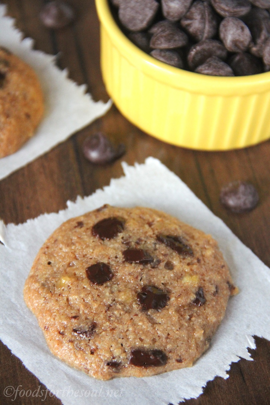 Chocolate Chunk Banana Cookies | Amy's Healthy Baking