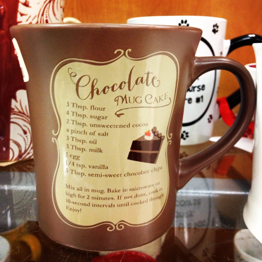 Chocolate Mug Cake Recipe -- ON a mug! | amyshealthybaking.com