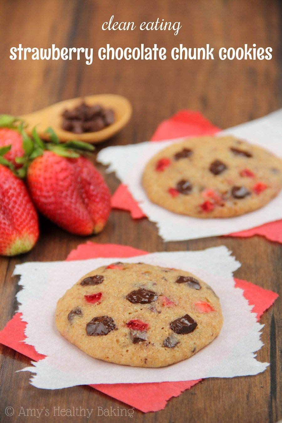 Strawberry Chocolate Chunk Cookies