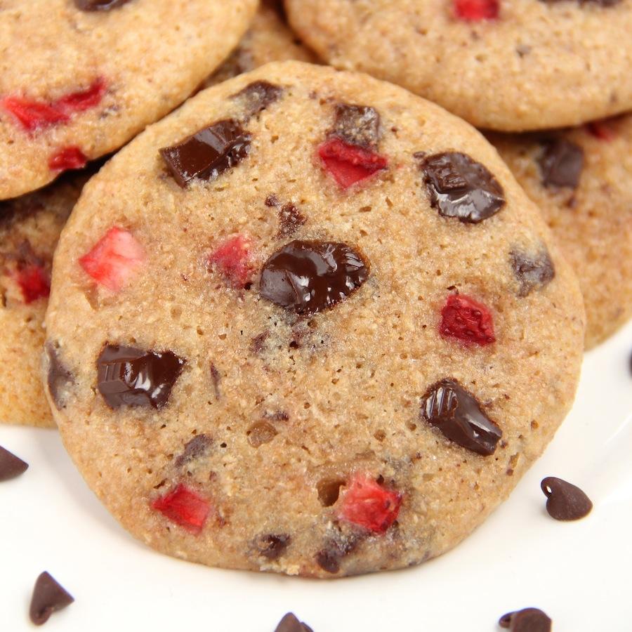 Strawberry Chocolate Chunk Cookies