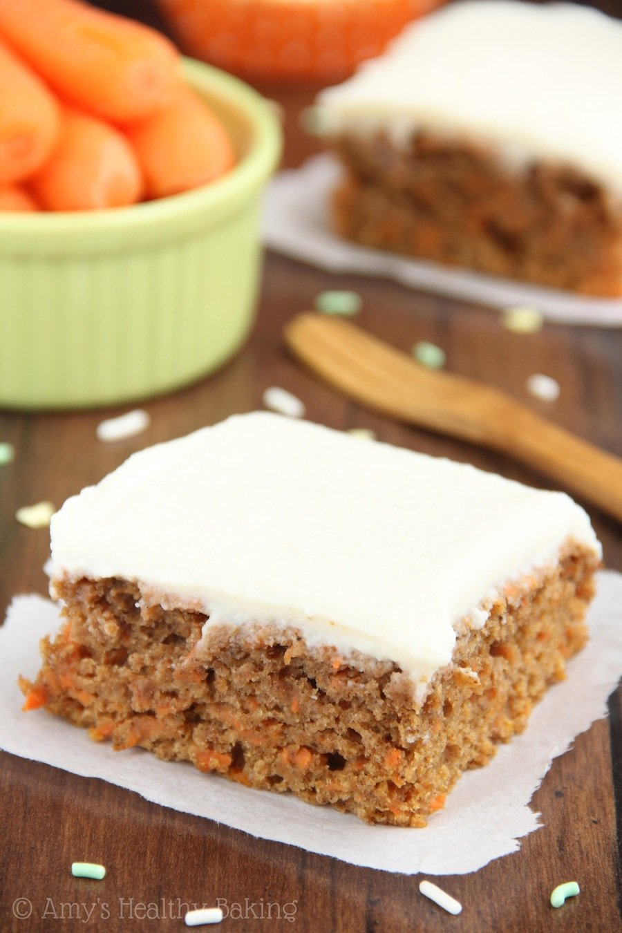 An Easy No Mixer Required Recipe For Lightened Up Classic Carrot Cake The