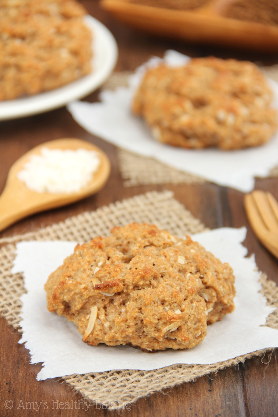 Incredibly moist Coconut Coffee Scones made with almost NO butter! You'd never guess they were healthy!