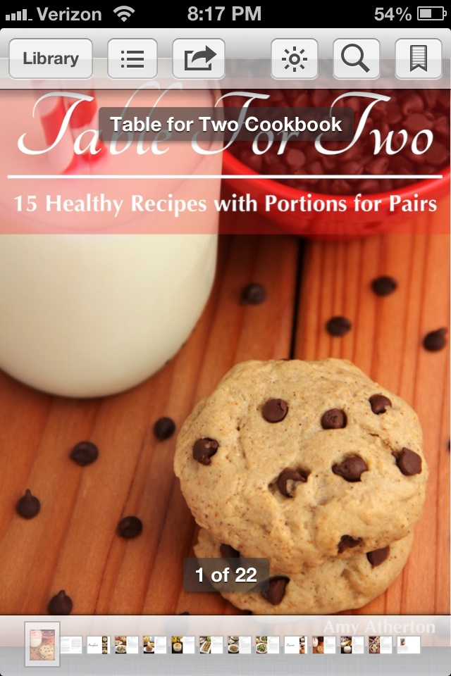 """Table for Two"" eCookbook Giveaway on amyshealthybaking.com! {ends 4/18/14}"