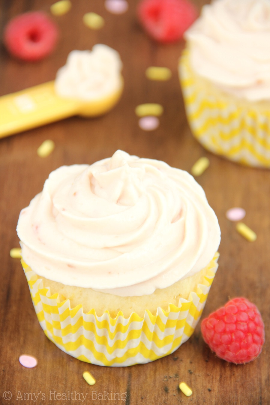 ... Cupcakes with Raspberry Vanilla Yogurt Frosting | Amy's Healthy Baking