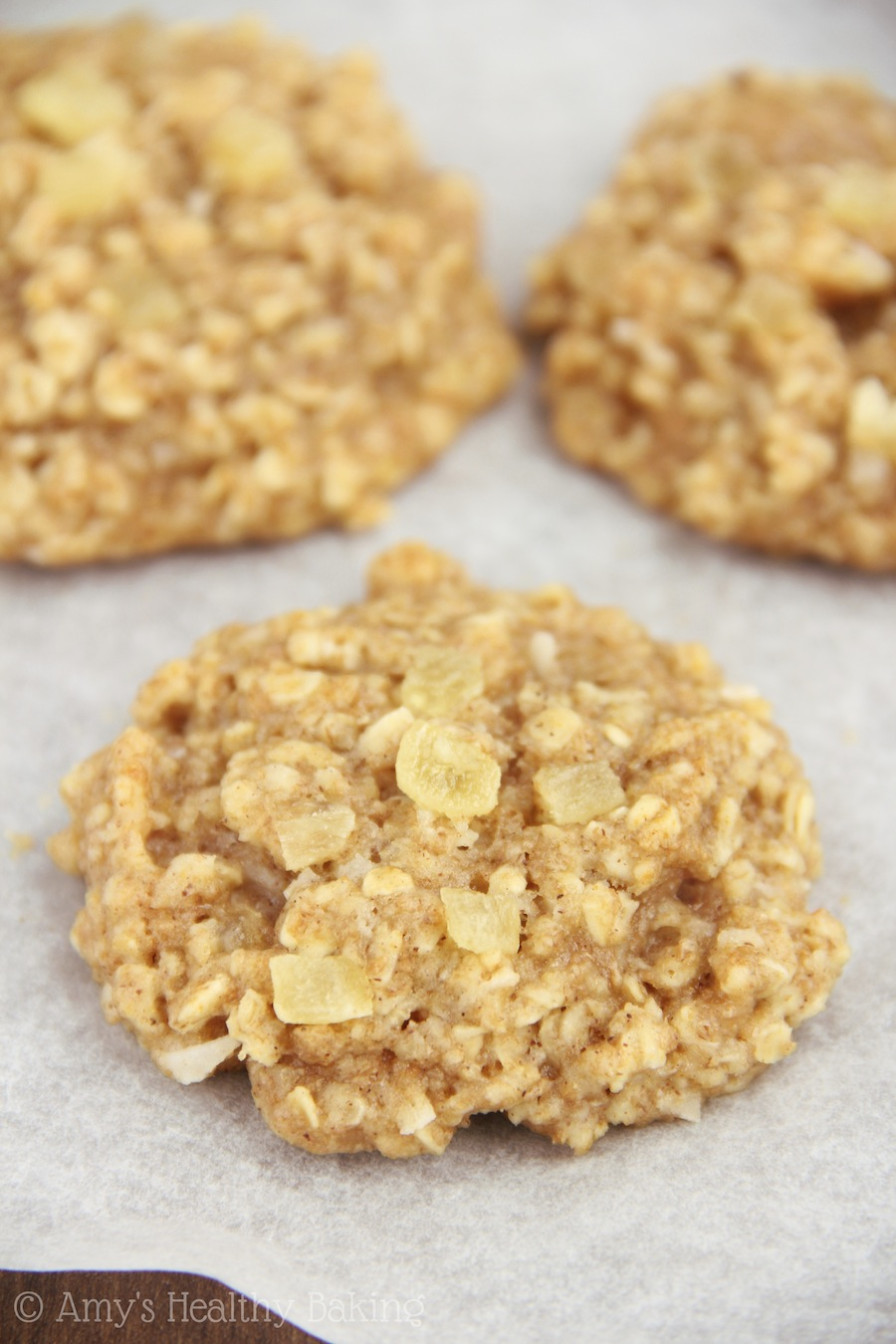 Pineapple Coconut Oatmeal Cookies | Amy's Healthy Baking