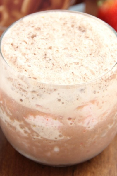 Chocolate-Covered Strawberry Smoothie with Carnation Breakfast Essentials