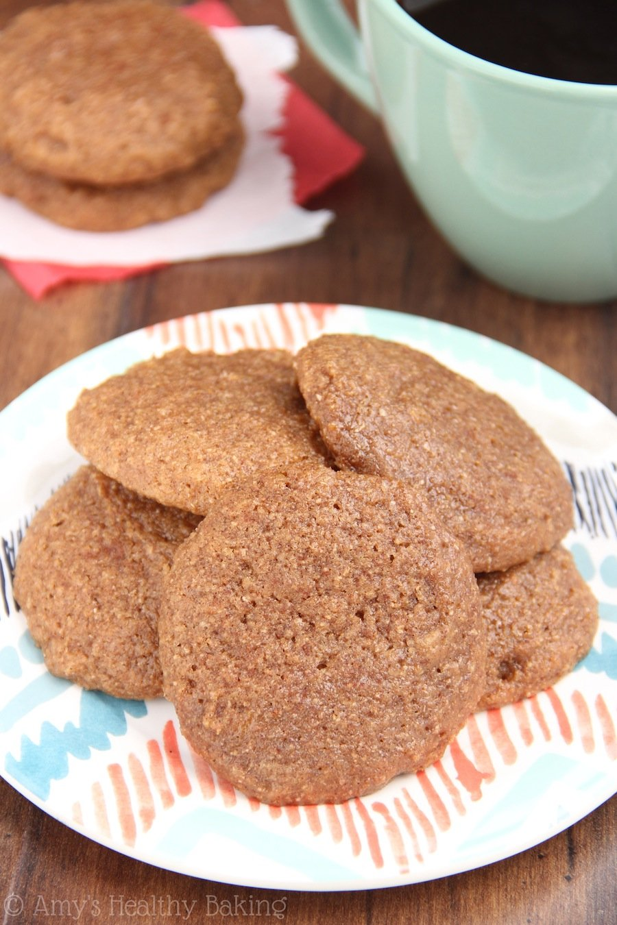 The easiest recipe for soft & chewy coffee cookies you'll ever make! And they don't taste healthy at all!