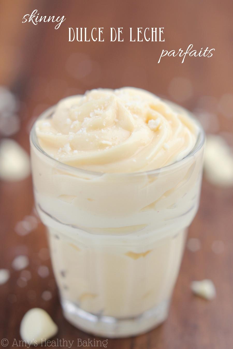 Skinny Dulce de Leche Parfaits recipe -- just 5 ingredients & 110 calories!