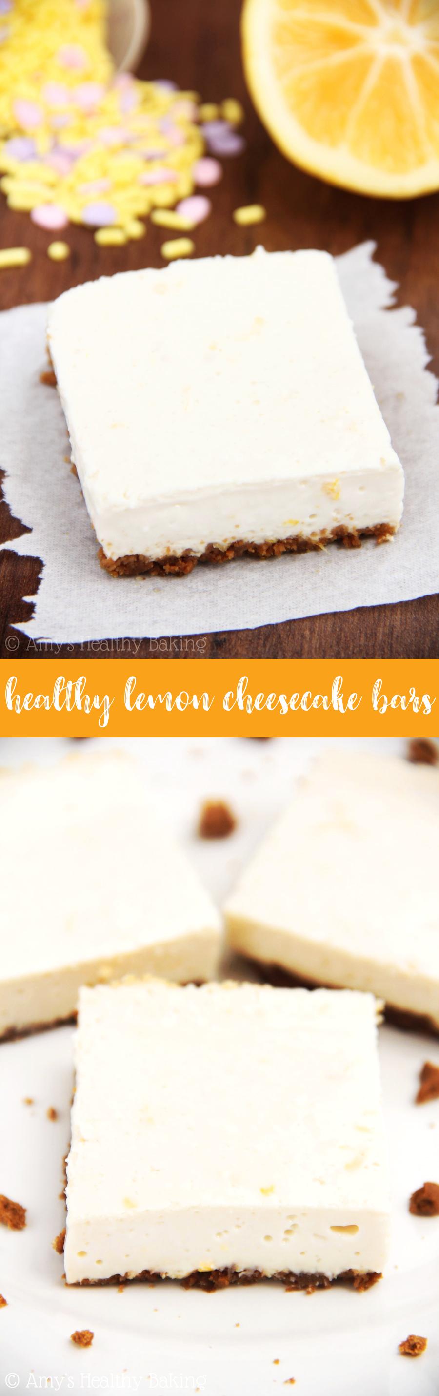 healthy lemon cheesecake bars
