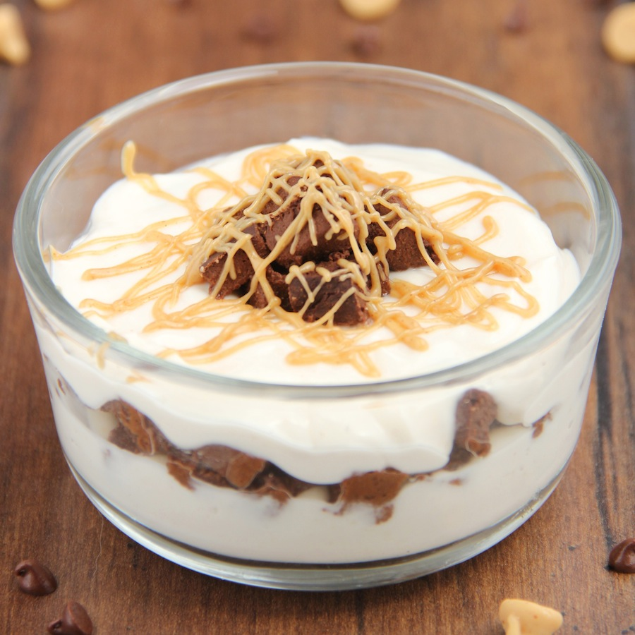 Skinny Peanut Butter Brownie Parfaits