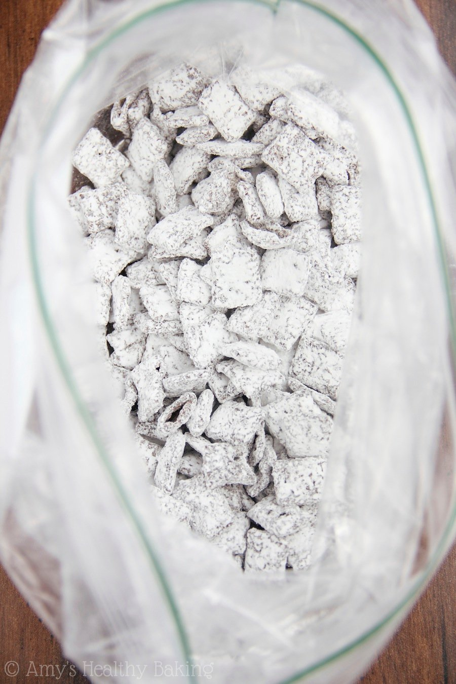 Skinny Dark Chocolate Muddy Buddies -- a really easy recipe with none of the guilt!   amyshealthybaking.com