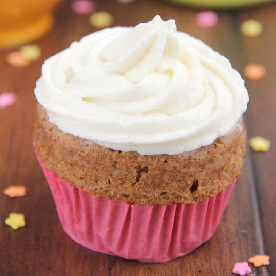 Skinny Single-Serving Microwave Spice Cupcake