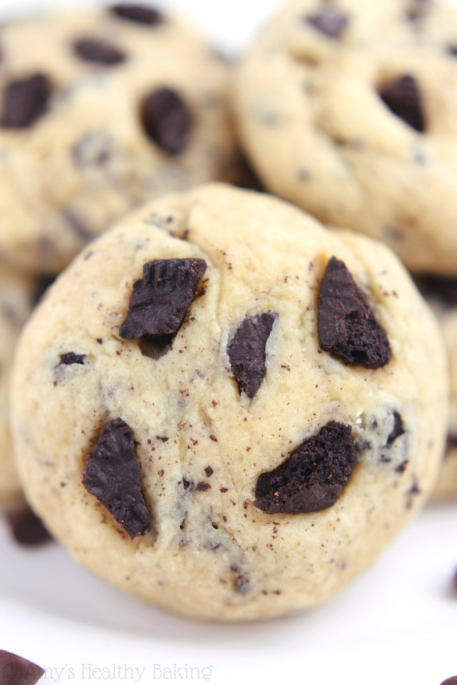 Cookies 'n Cream Pudding Cookies -- a healthy recipe for the softest cookies you'll ever make. They taste just like the ice cream!