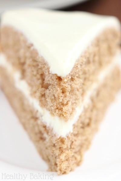 Spiced Hummus Cake with Vanilla Yogurt Frosting