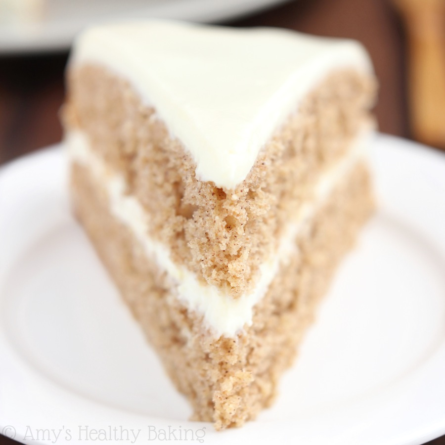 Spiced Hummus Cake with Vanilla Yogurt Frosting
