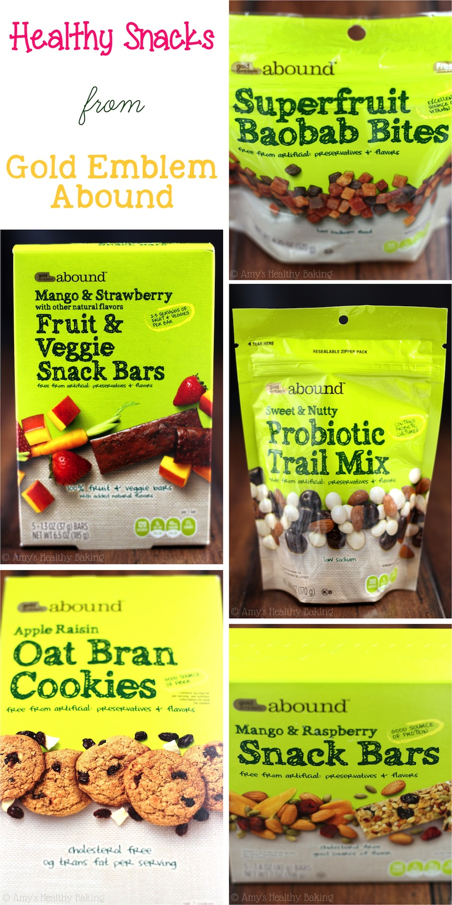 {GIVEAWAY} Healthy snacks from CVS Gold Emblem Abound! Enter to win on amyshealthybaking.com by 7/9/14!