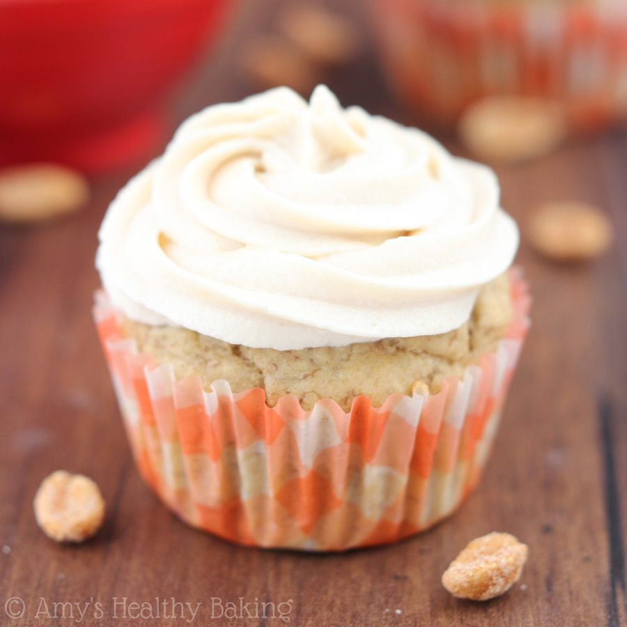 "Clean ""Elvis"" Peanut Butter Banana Cupcakes"