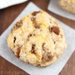 Cheesy Sausage Scones -- even meat-lovers will flip for this easy & healthy vegetarian breakfast!