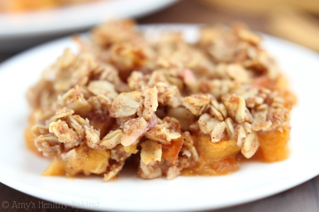 clean peach crumble amy 39 s healthy baking