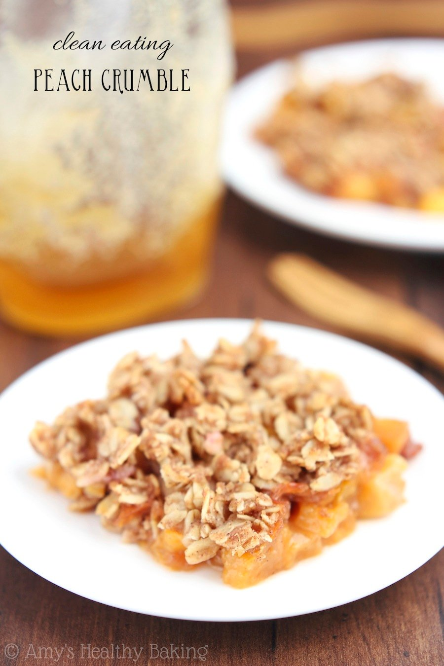Easy and great for summer: Peach crumble recipe