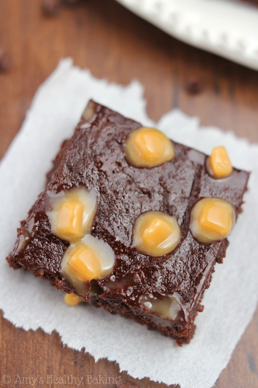 Fudgy Salted Caramel Brownies -- so rich, it's like eating fudge! They ...