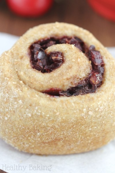 Overnight Whole Wheat Cherry Almond Rolls