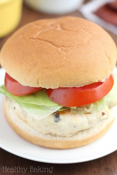 Skinny BBQ Bacon Chicken Burgers
