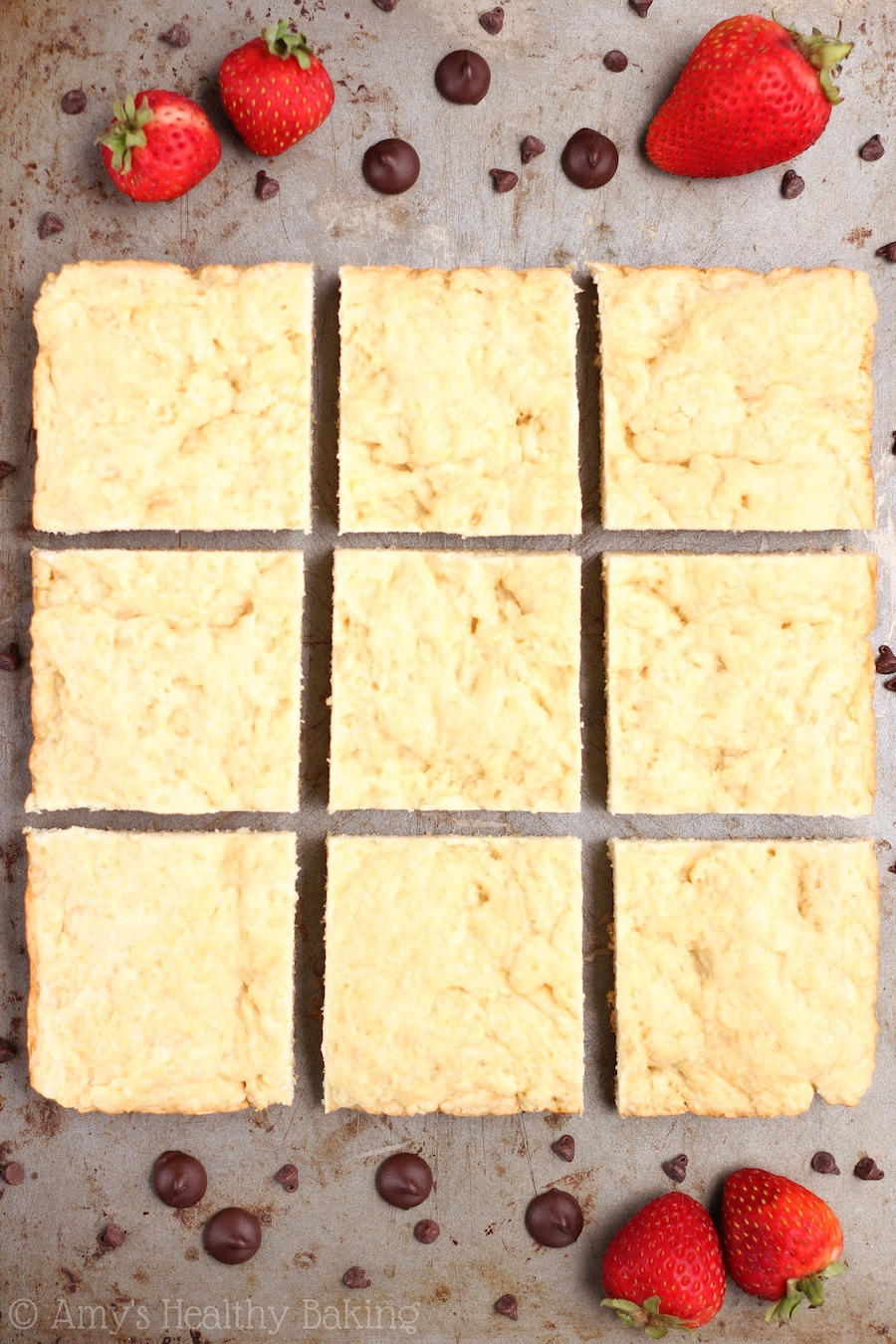 Skinny Shortcake -- sweet & buttery, but it doesn't taste healthy at all! The BEST shortcake recipe!