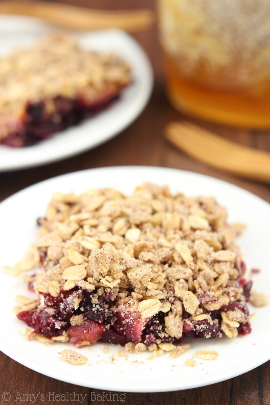 Clean Blueberry Mango Crumble | Amy's Healthy Baking