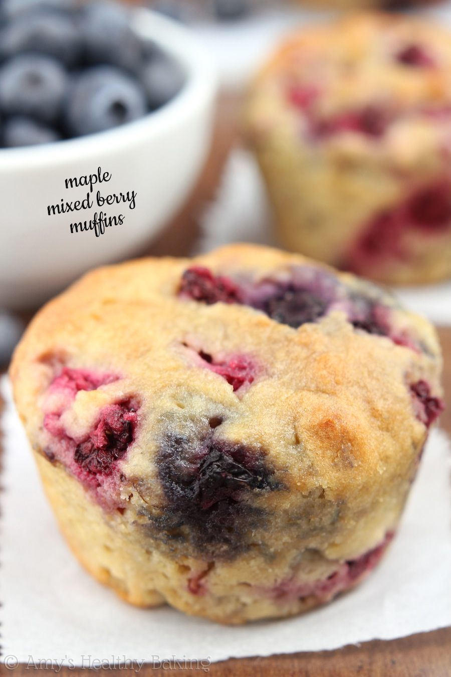 Maple Mixed Berry Muffins