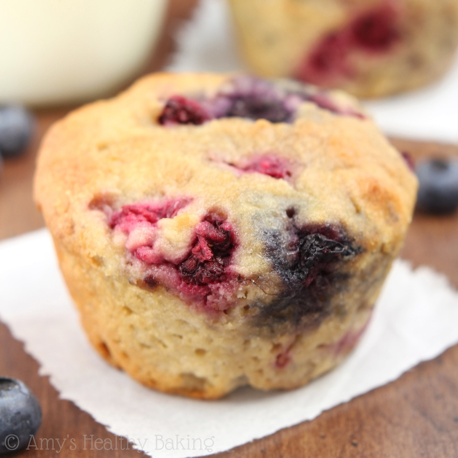 Maple Mixed Berry Muffins | Amy's Healthy Baking
