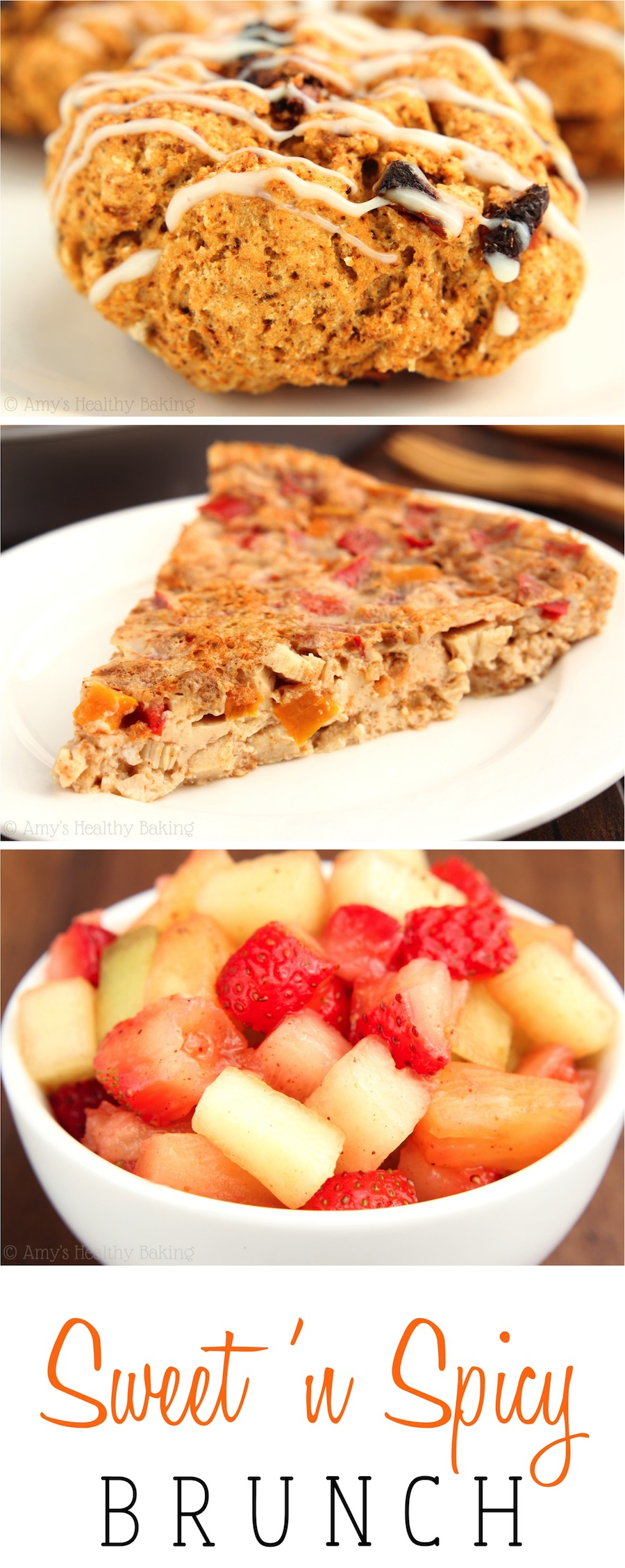 Scones, quiche & fruit salsa -- the ultimate brunch! Super easy, gluten-free & make-ahead so you can still sleep in!