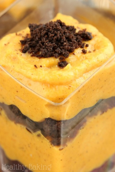 Oreo & Pumpkin Pudding Parfaits