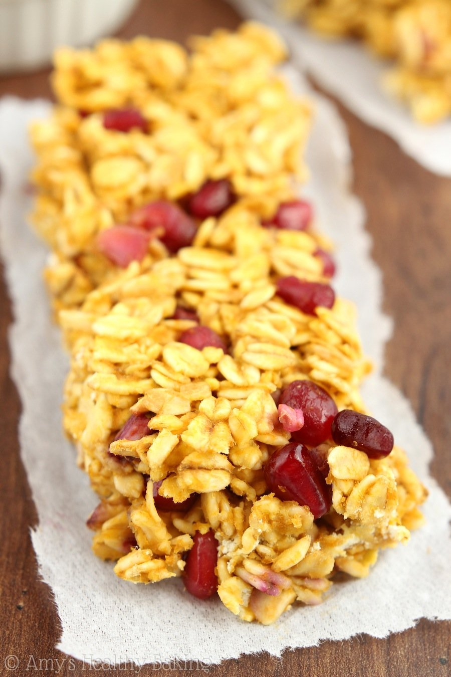 Pomegranate Pumpkin Granola Bars